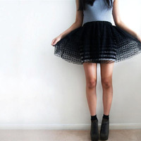 Black Polka Dot Tulle Tiered Tutu Skirt | Luulla