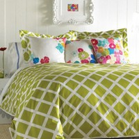 Kew Green Duvet Set - Twin - Duvet Covers + Quilts - Bedding