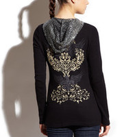 ideeli | SLEDGE Lily Wings Thermal Sequin Hoodie