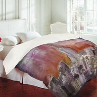 Deniz Ercelebi Float Over The City Duvet Cover