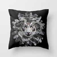 WILDFLOWER Throw Pillow by catspaws | Society6