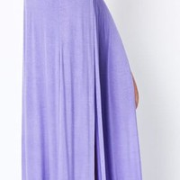 High Waist Banded Maxi Skirt With Slit - LAVENDER  Tanny&#x27;s Couture LLC