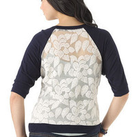 Floral Lace Back Long Sleeve