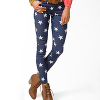 Star Print Skinny Jeans | FOREVER 21 - 2031580101