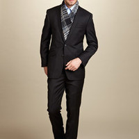 ideeli | BEN SHERMAN Peak Lapel Slim Fit Suit