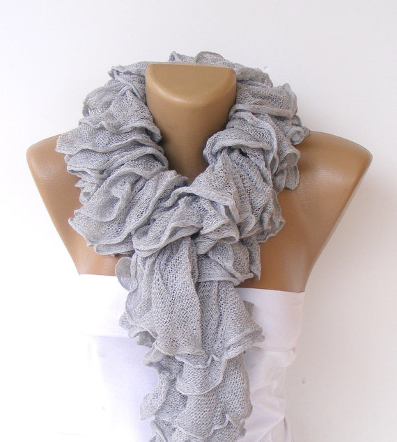 Knitting Pattern For A Ruffle Scarf : ruffle scarf,knit scarves,New Trend from senoAccessory Sewing