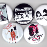 Sleater-Kinney - Set of 5 - Corin Tucker Carrie Brownstein Riot Grrrl Feminist Buttons Pins Badges Pinback