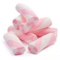 Puffy Marshmallow Poles - Pink and White: 2.2 LBS