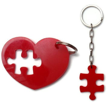 Puzzle  Accessories Key Chain SetPlexiglass Laser Cut by bugga
