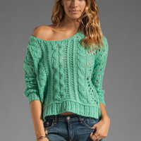 Free People Fluff Sweater in Mint from REVOLVEclothing.com