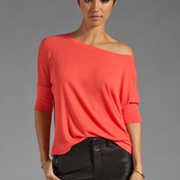 Michael Stars Supima Modal Elbow Sleeve Crop Top in Koi from REVOLVEclothing.com