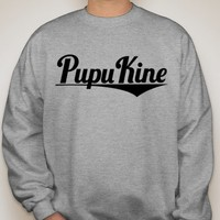 Pupu Kine — The Script - Gray and Black Crew Neck Sweatshirt