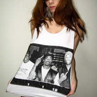 2 Pac Biggie Smalls Rap Hip Hop Rock Tank Top M