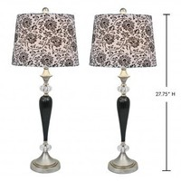Wake Up Frankie - Shades of Damask Lamps - Black (Set of 2)