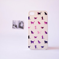 iPhone 4 Case  Galaxy Cat iPhone 4 Case  Cat by TheCaseOfMrPelham