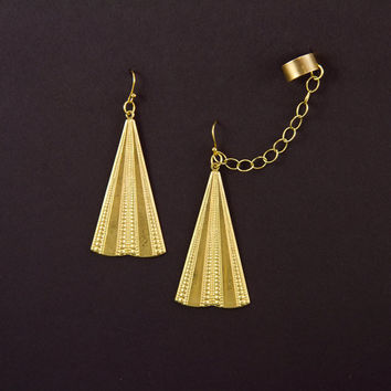 Egyptian Ear Cuff Earrings by Atelier Yumi by AtelierYumi on Etsy
