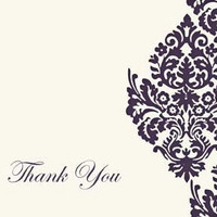 DIY Damask Thank You Cards PDF by RKRcreations on Etsy