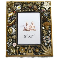 Jewelry mosaic frame grandmother by Nostalgianmore on Etsy
