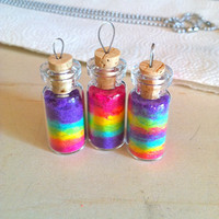 Rainbow Glass Vile Necklace by lacedmolly on Etsy