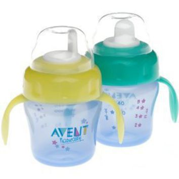 Avent Magic Trainer Cup Twin Pack, 7 Ounce, Colors May Vary