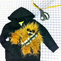 baby toddler chewbacca style monster sweatshirt by SoSoHippo