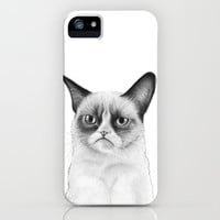 Tard Grumpy Cat Drawing, Tardar Sauce, iPhone Case
