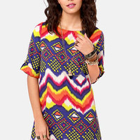 Hip Hype Hooray! Multi Print Dress