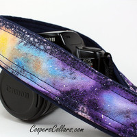 Galaxy  No.121 Camera Strap, Hand painted, One of a Kind, dSLR or SLR, Cosmos, Nebula