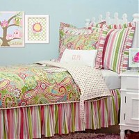 Spring Paisley Kids Bedding Set