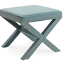 One Kings Lane - Easy Updates - Palmer Ottoman, Robin's-Egg Blue