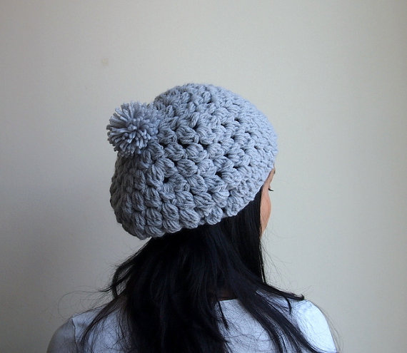 Easy Chunky Crochet Hat Pattern : PDF crochet pattern - chunky slouchy from Accessorise on Etsy