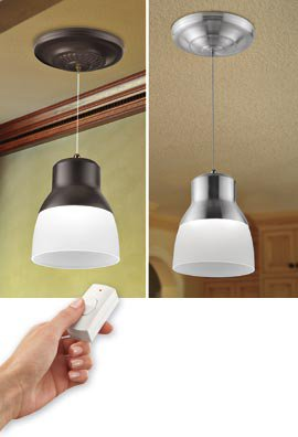 Battery Powered LED Pendant Light From Solutions For