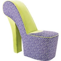 Well-Heeled Purple Leopard Chair