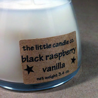 Soy Jar Candle Black Raspberry Vanilla Scented by littlecandles