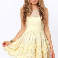 Better Than Buttercream Cream Ruffle Dress