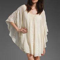 FREE PEOPLE Embellished Cape Dress in Nude at Revolve Clothing - Free Shipping!