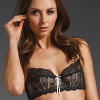ELLE MACPHERSON INTIMATES Dentelle Underwire Bra in Jet and Vintage Cream at Revolve Clothing - Free Shipping!
