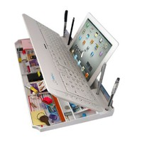 Amazon.com: The Restt Bluetooth Keyboard-6 Products in ONE! iPad Stand, Phone Stand, Pen Stand, & More..: Computers & Accessories