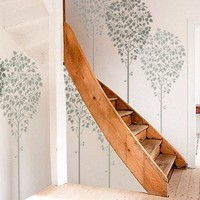 STENCIL for Walls - LINDEN Tree - Large, Reusable Wall Stencil - 5 ft. tall