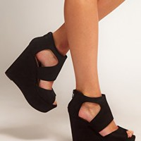 New Look Width Platform Wedge Shoes at asos.com