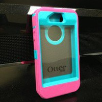 Otter box Defender For iPhone 4 Teal And Pink
