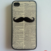 Moustache iPhone 4 Case New Hard Fitted Case For by ShawnMedia