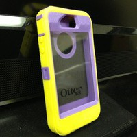 Otter box Defender For iPhone 4 Yellow And Purple