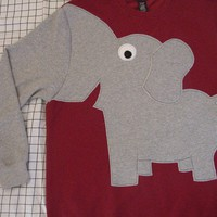Fun Elephant Trunk sleeve sweatshirt UNISEX by CreativeCallipipper