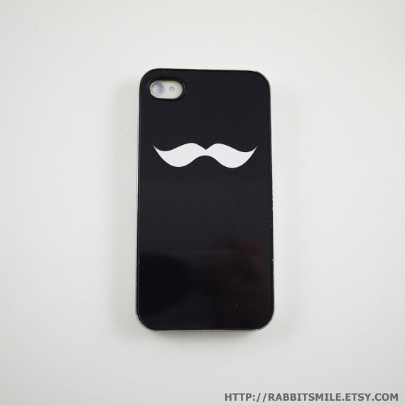 Black Mustache iPhone 4 Case iPhone 4s Case iPhone by rabbitsmile