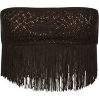 Full Tilt Fringe Bandeau Black  In Sizes