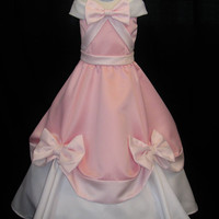 Adult Pink Cinderella Gown That The Mice Made