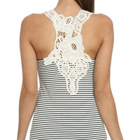Stripe Crochet Racer Tank | Shop Just Arrived at Wet Seal