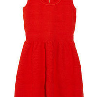Juicy Couture | Textured knitted stretch cotton-jersey dress | NET-A-PORTER.COM