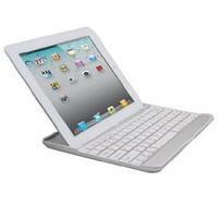 Amazon.com: iXCC Aluminum Bluetooth Keyboard Case for Apple iPad 2 and iPad 3 -the New iPad (Silver with White Keys): Computers & Accessories